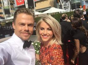 """Pre show selfie"" - Emmy Awards - September 12, 2015 Courtesy derekhough twitter"